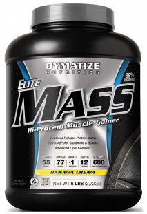 Гейнер Dymatize Nutrition Elite Mass Gainer 6lb (2722 г)